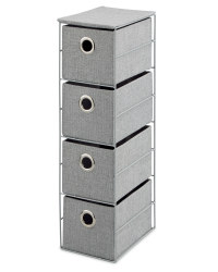 4-Drawer Storage Unit - Grey