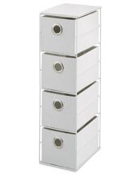 4-Drawer Storage Unit - White