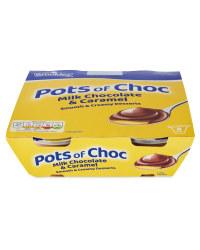 4 Pack Pots of Choc Caramel Desserts