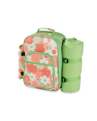 4-Person Floral Picnic Backpack