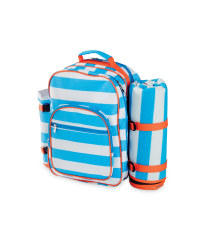 4-Person Stripe Picnic Backpack