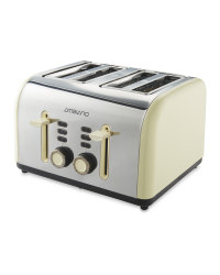 4 Slice Toaster - Cream