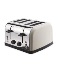 Ambiano Contemporary 4 Slice Toaster - Cream