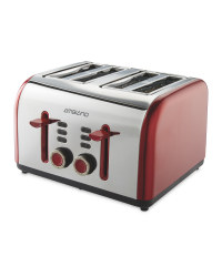 4 Slice Toaster - Red