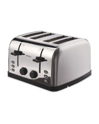 Ambiano Contemporary 4 Slice Toaster - Stainless Steel