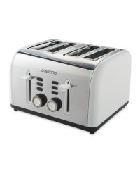 4 Slice Toaster - White