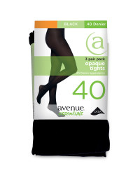 40 Denier Opaque Tights 3-Pack