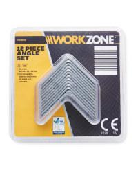Workzone 40mm Bracket 12-Piece Set