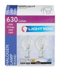 42W Round BC Eco Halogen Light Bulbs