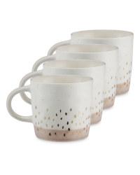 Kirkton House Speckled Mugs 4 Pack - Tonal