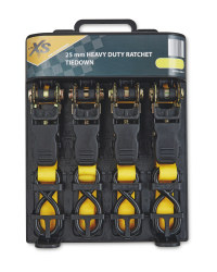 Auto Xs Ratchet Tie Down Set 4-Piece