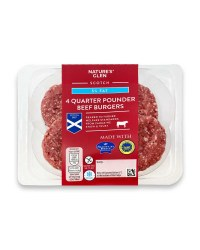 5% Fat 1/4 Pounder Beef Burgers