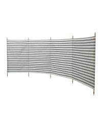5 Pole Windbreak - Charcoal/White
