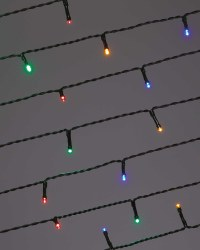 50 LED Green Cable Lights - Multicoloured
