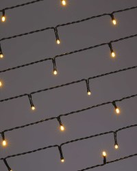 50 LED Green Cable Lights - Warm White