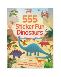 555 Dinosaurs Sticker Fun Book