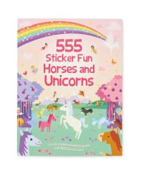 555 Horses & Unicorns Sticker Book