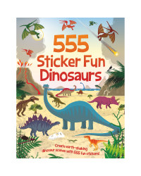 555 Sticker Fun Dinosaur Book