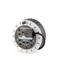 Workzone 5m Cable Reel - White