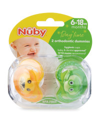 Animals Soothers 2 Pack 6-18M