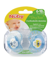 Blue Robot Soothers 2 Pack 6-18M