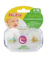 Stars Soothers 2 Pack 6-18M