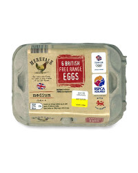 6 Medium British Free Range Eggs