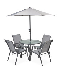 Fabric Garden Table and Chairs Set