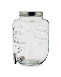 7.6L Glass Drinks Dispenser - Clear