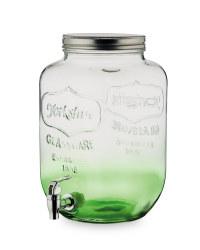 7.6L Glass Drinks Dispenser - Green Ombre
