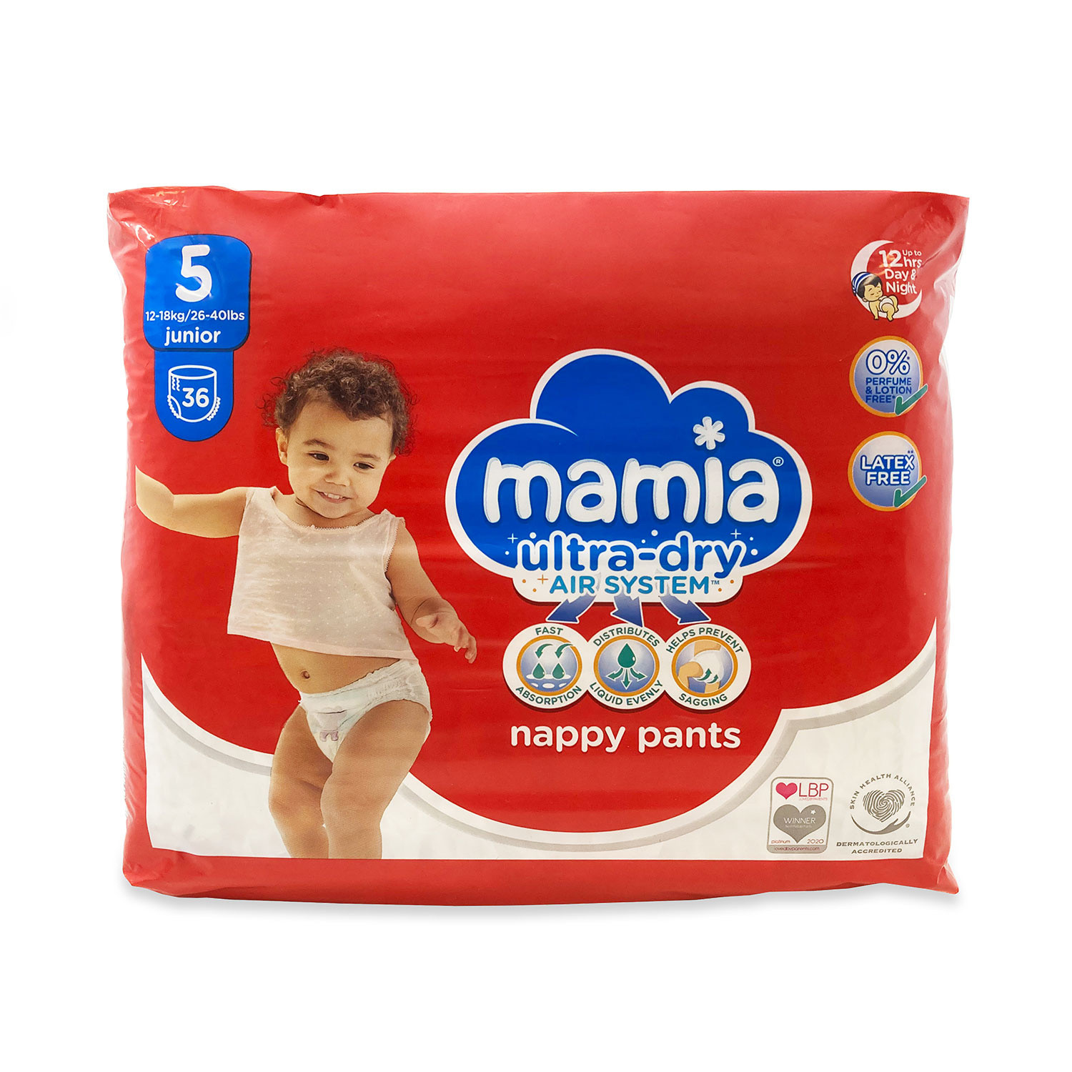 Mamia Nappy Pants Size 5 36 Pack