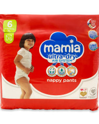 Mamia Nappy Pants Size 6 32 Pack