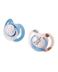 Nuby Pink Leaves Soothers 0-6 Months