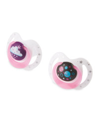 Pink Planet Soothers 18-36 Months