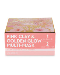 Lacura Golden Glow & Pink Clay Mask