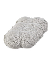 Grey Double Knitting Yarn 4 Pack