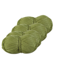 Green Double Knitting Yarn 4 Pack