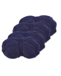 Navy Double Knitting Yarn 4 Pack
