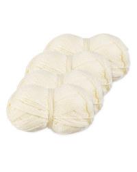 Cream Double Knitting Yarn 4 Pack
