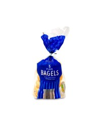 Village Bakery Plain Bagels 5 Pack
