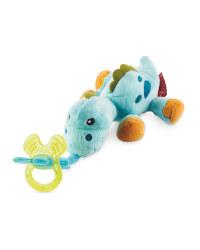 Blue Dino Nuby Snoozie Teething Toy