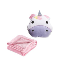 Children's Unicorn Cushion & Blanket