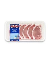100% British 6 Pork Chops
