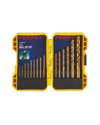 Ferrex 15 Piece HSS Drill Bit Set