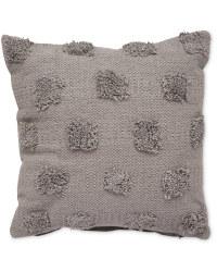 Grey Circle Tufted Cushion