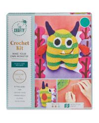 Green Striped Monster Crochet Kit