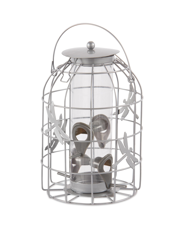 Light Grey Seed Lantern Bird Feeder