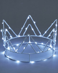 Ice White LED Crown Tree Topper