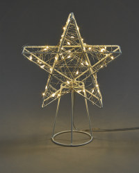 Warm White LED Star Tree Topper