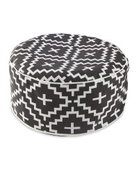 Black And White Inflatable Ottoman